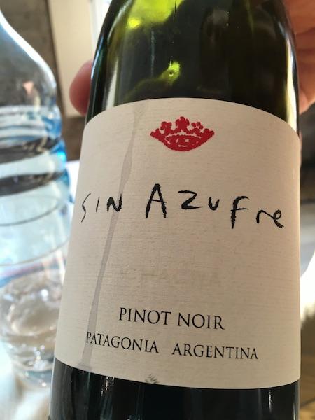 Chacra Sin Azufre Pinot Noir 2015