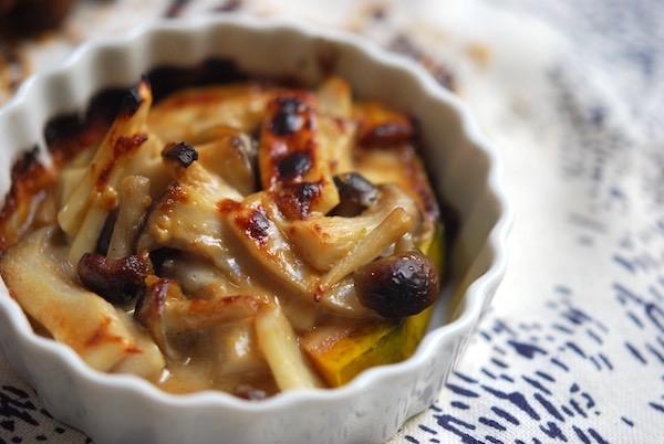 こだわりの味噌とブルーチーズが決め手!カボチャときのこのグラタン| 簡単レシピ