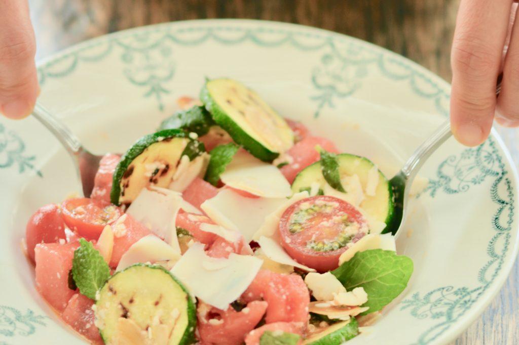 リコッタサラータとスイカ、ミントのサラダ|こだわりレシピ