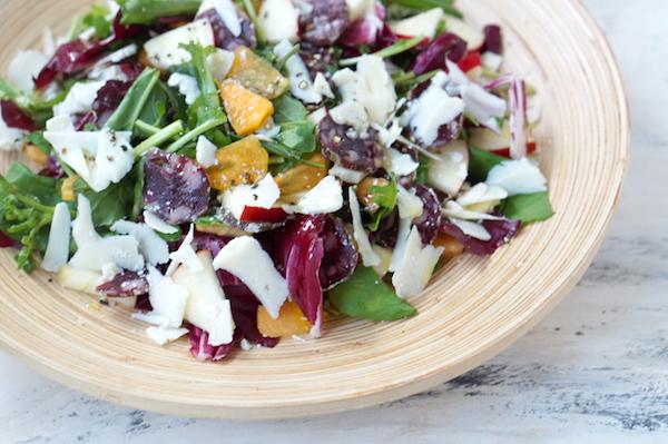 リコッタサラータが旨い。蝦夷鹿のサラミ&フルーツで寒さに負けないサラダを|簡単レシピ
