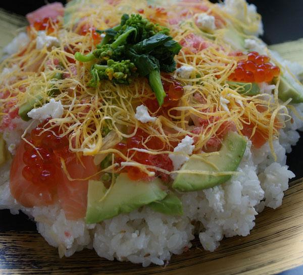 カッテージチーズで、おしゃれな洋風ちらし寿司|簡単レシピ