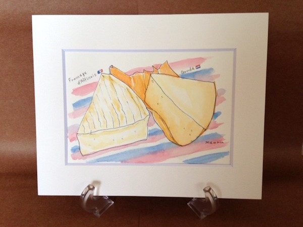 6/13(水)開催「チーズの水彩画を描いてみよう!」